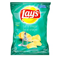 Lay's Potato Chips, Salt & Vinegar 40 g, 40/CT