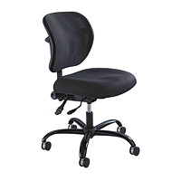 Safco Vue Intensive Task Chair, Black, Fabric Seat/Mesh Back