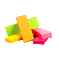 Post-it Page Markers, Assorted Fluorescent Neon Colours, 1/2