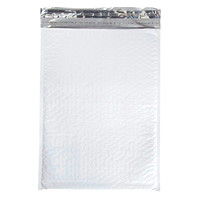 Air Jacket Lightweight Plastic Bubble Mailers, White, #5, 100/BX