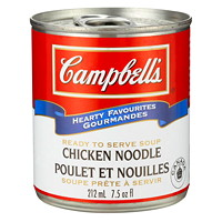 Campbell's Hearty Favourites Ready-to-Serve Soup, Chicken Noodle, 212 mL