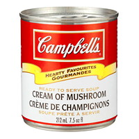 Campbell's Hearty Favourites Ready-to-Serve Soup, Cream of Mushroom, 212 mL