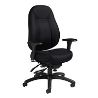 Global ObusForme Comfort Multi-Tilter Chair, Mid-Back, Black, Sprinkle Fabric