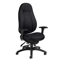 Global ObusForme Comfort Multi-Tilter Chair, High-Back, Black, Sprinkle Fabric