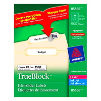 Avery Filing Labels With TrueBlock Technology