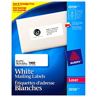 Étiquettes d'adresse blanches Easy Peel Avery
