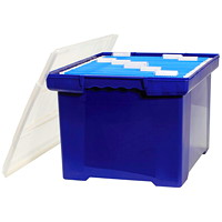 Storex File Tote with Moulded Handles