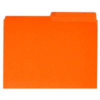 Grand & Toy Coloured File Folders, Orange, Letter-Size, 100/BX