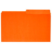 Grand & Toy Coloured File Folders, Orange, Legal-Size, 100/BX