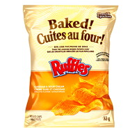 Baked! Snack Chips, Ruffles Cheddar and Sour Cream, 32 g, 40/CT