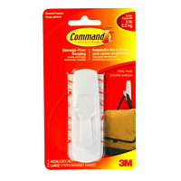 Command Adhesive Utility Hooks, Large, 5 lb Capacity, 1 hook/2 strips