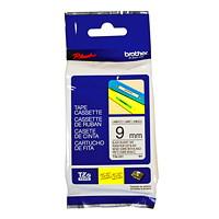 Brother TZe Label Tape Cassette, Black Type/White Label, 9 mm x 8 m