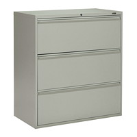 Offices To Go Marvel 3-Drawer Lateral File Cabinet, Grey, 36