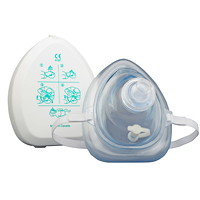 SAFECROSS Reusable CPR Face Mask With 1-Way Valve and Case