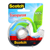 Scotch Transparent Tape with Plant-Based Adhesive and Refillable Dispenser