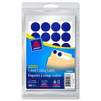 Avery Removable Round Colour-Coding Labels, Blue, 3/4