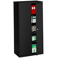 Global Economy Steel Storage Cupboard, Black, 72