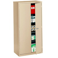 Global Economy Steel Storage Cupboard, Sand, 72