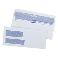 Enveloppes commerciales blanches à teinte de sûreté Reveal-N-Seal Quality Park