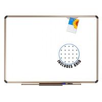 Quartet Prestige Total Erase Euro Frame Whiteboard, Aluminum Frame, 48