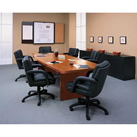 Global Ark Boat-Shaped Conference Room Table