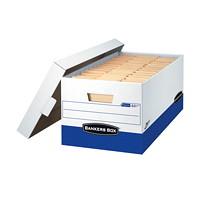 Boîte de rangement robuste à assemblage instantané Presto Bankers Box, format lettre (81/2pox 11po)