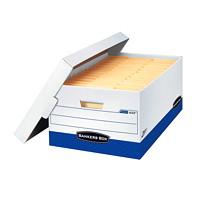 Boîte de rangement robuste à assemblage instantané Presto Bankers Box, format légal (81/2pox 14po)