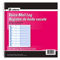 Adams Voice Mail Log Book