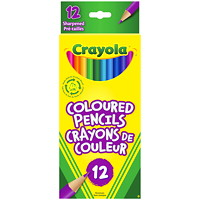 Crayola Coloured Pencils, Assorted Colours, 12/PK
