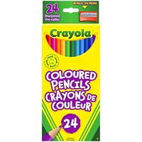 Crayons de couleur Crayola, couleurs variées, emb. de 24