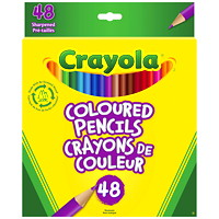 Crayola Pre-Sharpened Coloured Pencil Crayons