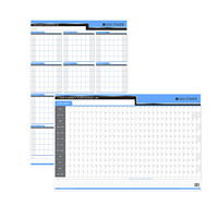 Day-Timer Flexible 1-Year Vertical/Horizontal Undated Dry-Erase Calendar, 24