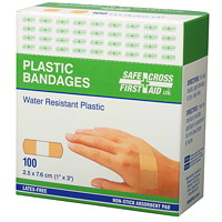SAFECROSS Water-Resistant Plastic Bandages