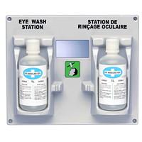 Station de rinçage oculaire double à pose murale SAFECROSS