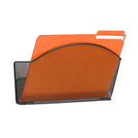 Safco Onyx Mesh Wall Pocket, Black, Letter-Size