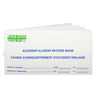 Cahier de rapport d'accident/maladie First Aid