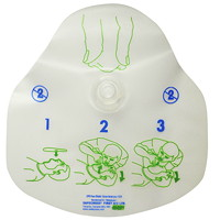 SAFECROSS Single-Use CPR Face Mask With 1-Way Filter Valve