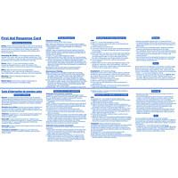 Carte d'intervention de premiers soins First Aid