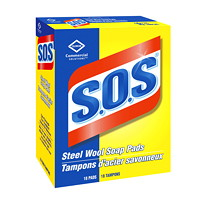 Clorox Commercial Solutions S.O.S Steel Wool Soap Pads, 18/Box