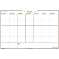 At-A-Glance WallMates Self-Adhesive Dry-Erase Wall Planner