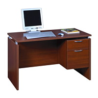 Star Quality Mira Single-Pedestal Cayene Cherry Desk