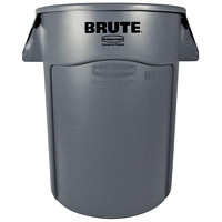 Rubbermaid Commercial Brute Vented 44-Gallon Container, Grey