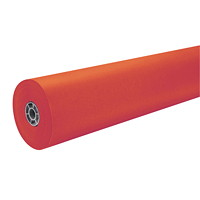 MailPac Dual-Finish Heavyweight Kraft Wrap Roll, Flame Red, 36