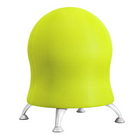 Safco Zenergy Exercise Ball Stool, Grass Mesh With Silver Legs