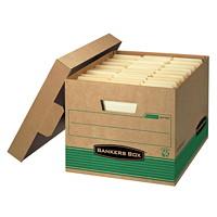 Boîte de rangement recyclée très robuste Stor/File Bankers Box, format lettre (81/2po x 11po) ou légal (81/2po x 14po)