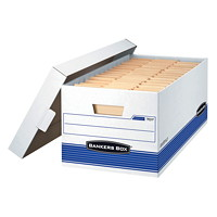 Bankers Box Medium-Duty Stor/file Storage Box, Letter-size (8 1/2