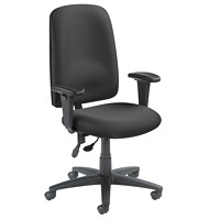Grand & Toy 500 Plus Series Multi-Task Chair, Black, High-Back