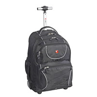 SwissGear Wheeled Laptop Backpack, Black, Fits Laptops up to 15.6