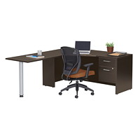 Offices To Go Ionic L-Shaped Suite, Left-Handed, Dark Espresso