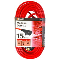 Woods Medium-Duty Cord With Single Outlet